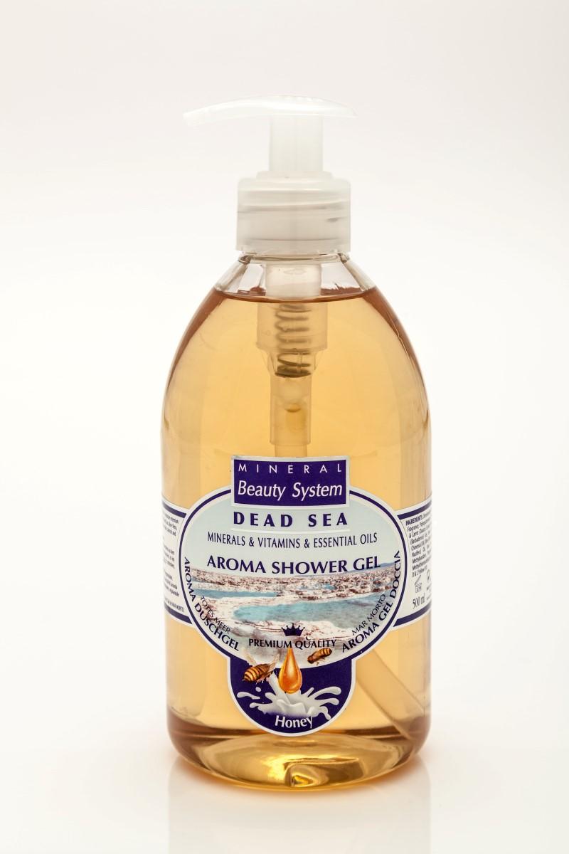 Арома душ гел Mineral Beauty System със соли от Мъртво море - Мед и мляко