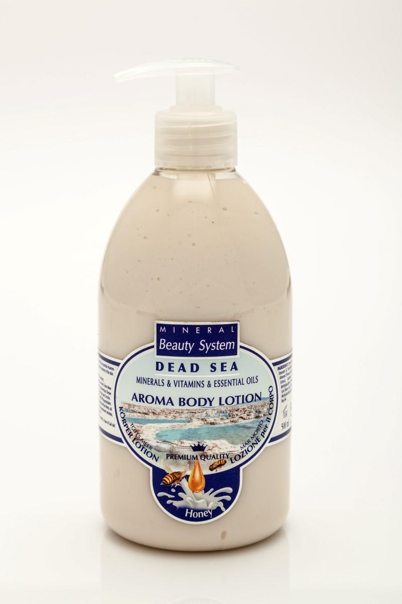 Арома крем за тяло Mineral Beauty System със соли от Мъртво море – Мед и мляко