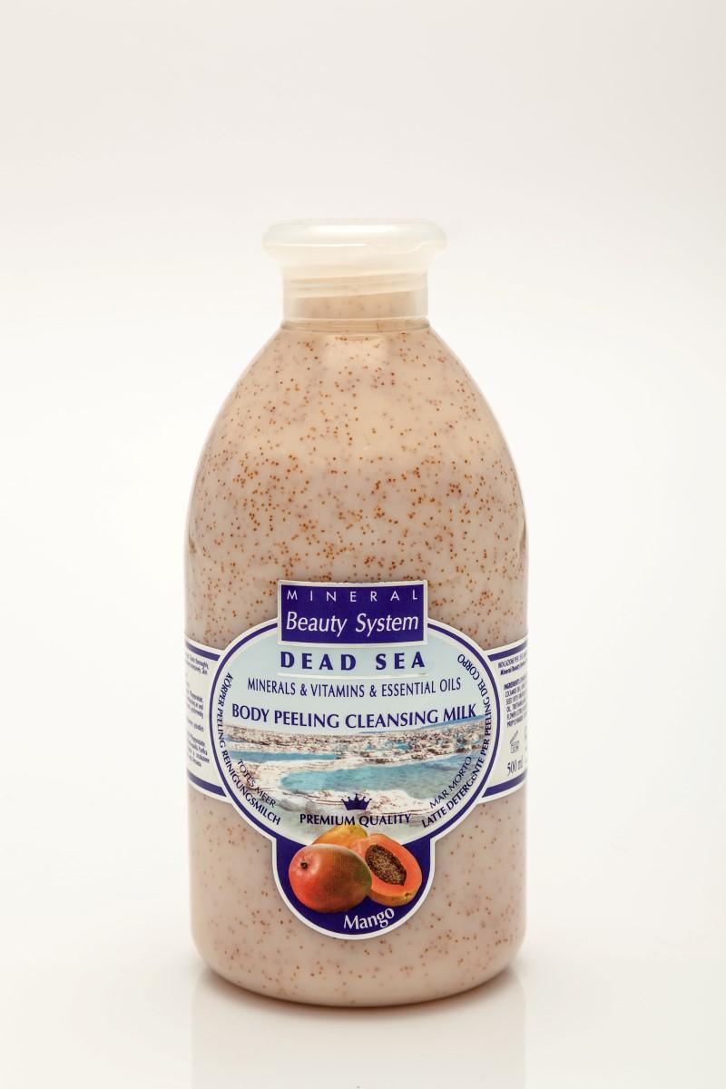 Арома пилинг мляко за тяло с аромат на манго с минерали от Мъртво море