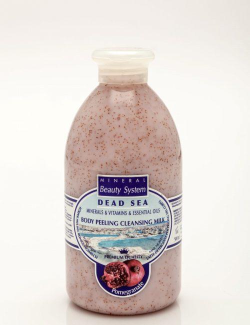 Арома пилинг мляко за тяло с аромат на нар с минерали от Мъртво море