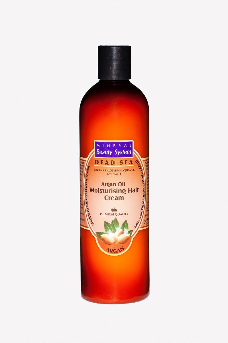 Хидратиращ крем за коса на Mineral Beauty System с арганово масло и кал от Мъртво море