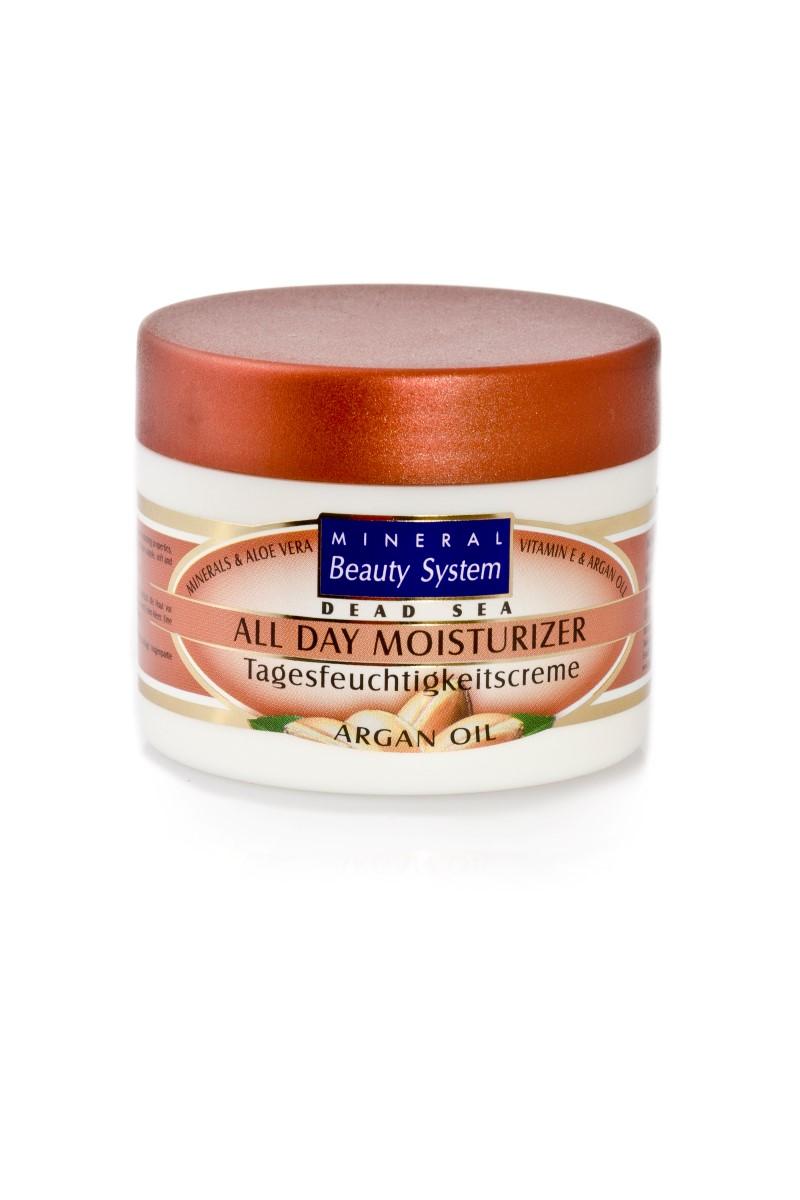 Целодневен хидратиращ крем за лице на Mineral Beauty System с арганово масло и минерли от Мъртво море