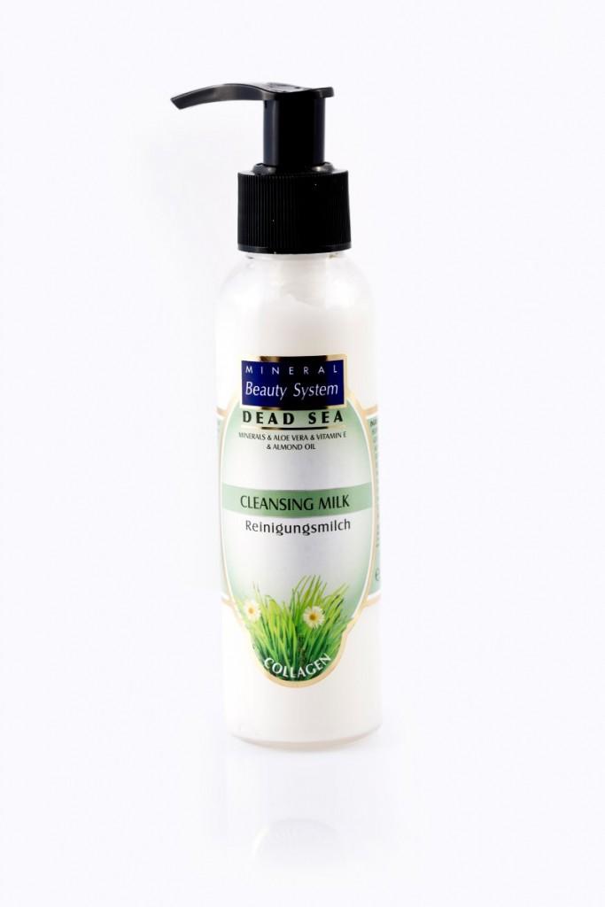 Мляко за лице на Mineral Beauty System с колаген и соли от Мъртво море